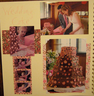 Here are more pages from my wedding scrapbook Enjoy