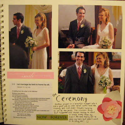 Wedding Scrapbook Pages