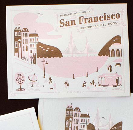 Several more vintage inspired destination wedding cards here