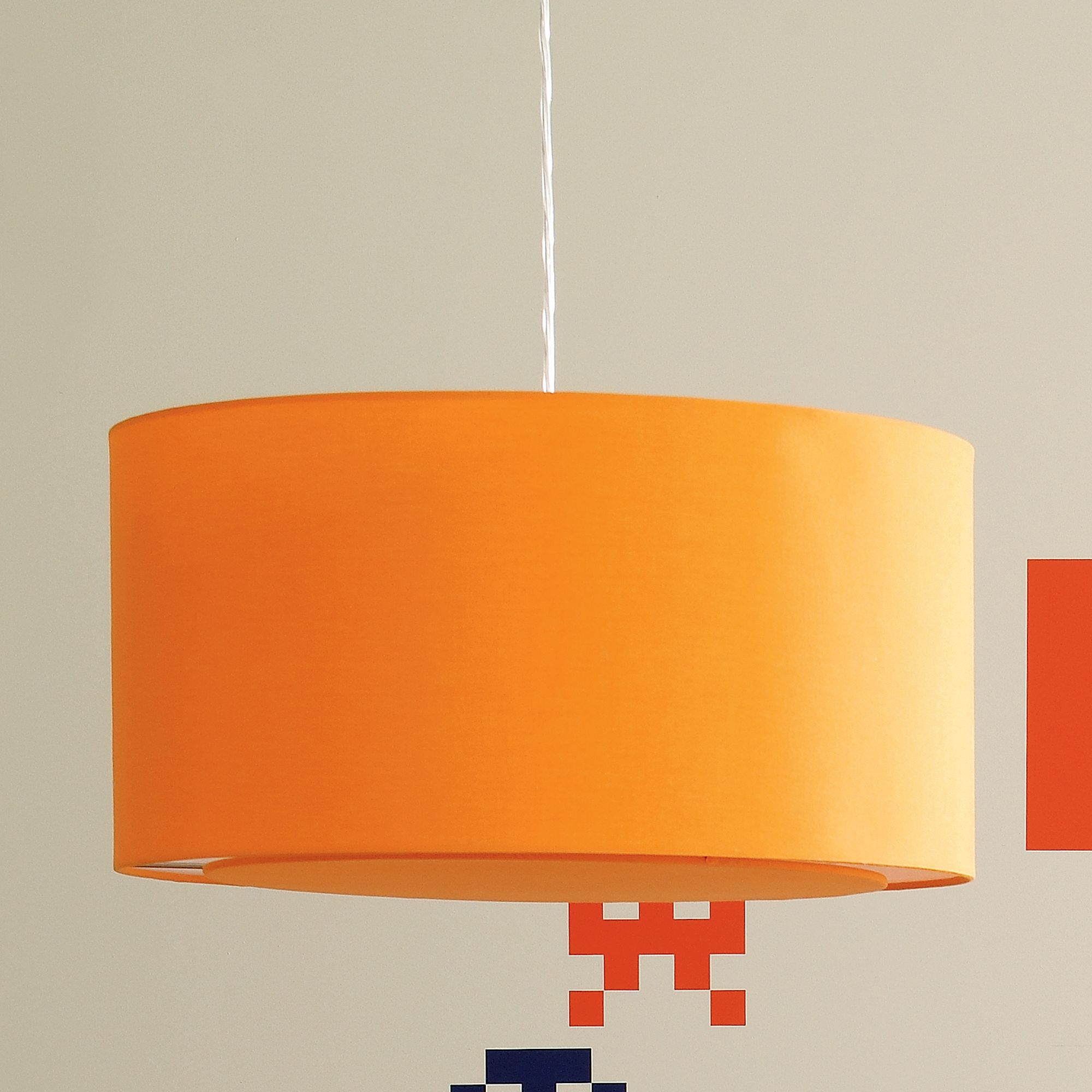 Orange hanging lamp - Orange Pendant Lamp A Bookcase